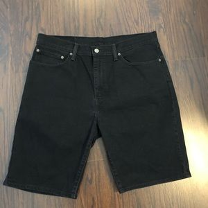 Mens Levis Black Jean Denim Shorts size 36